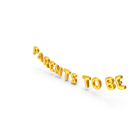 Foil Balloon Words Parents to be Gold PNG & PSD Images