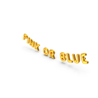 Foil Balloon Words Pink Or Blue Gold PNG & PSD Images