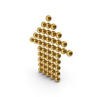 Gold Symbol Arrow Up PNG & PSD Images