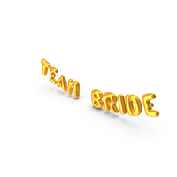 Foil Balloon Words Team Bride Gold PNG & PSD Images