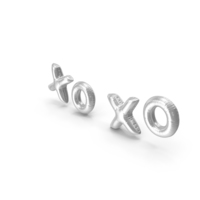 Foil Balloon Words XO XO Silver PNG & PSD Images