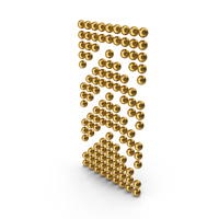 Gold Arrows Up PNG & PSD Images