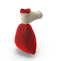Santa Holding a Red Bag PNG & PSD Images