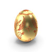 Golden Egg Heart Design PNG & PSD Images
