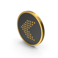 Gold Icon Arrow Left PNG & PSD Images