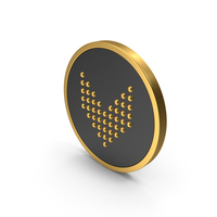 Gold Icon Arrow Down PNG & PSD Images