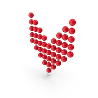 Ball Arrow Down Red PNG & PSD Images