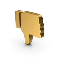 Dislike Gold PNG & PSD Images