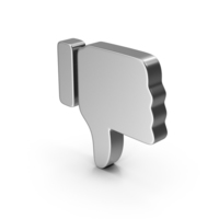 Dislike Silver PNG & PSD Images