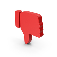 Dislike Red PNG & PSD Images