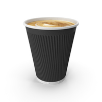 Disposable Cup with Coffee PNG & PSD Images