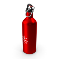 Aluminium Sports Bottle Red PNG & PSD Images