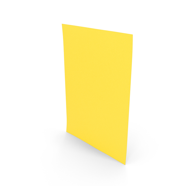Colored Paper Yellow PNG & PSD Images