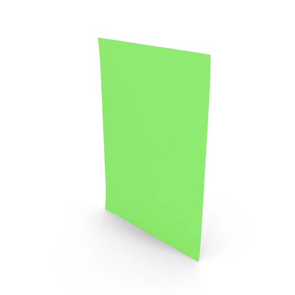 Colored Paper Green PNG & PSD Images