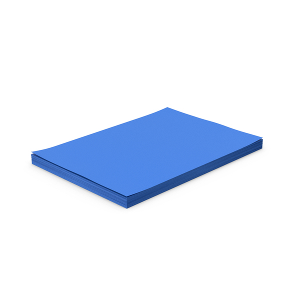 Blue Paper Stack PNG & PSD Images