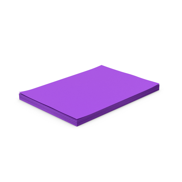 Purple Paper Stack PNG & PSD Images
