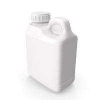 Plastic F Style Bottle 4oz With Ribbed Plastic Buttress Cap PNG & PSD Images