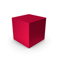 Cube Red Metallic PNG & PSD Images