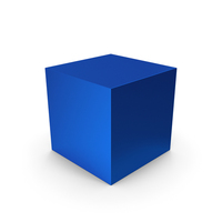 Cube Blue Metallic PNG & PSD Images