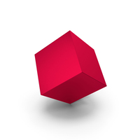 Red Metallic Cube PNG & PSD Images