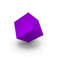 Purple Metallic Cube PNG & PSD Images