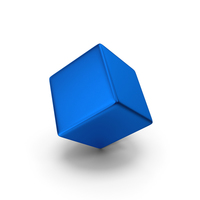 Smooth Cube Blue Metallic PNG & PSD Images