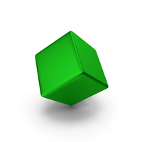 Smooth Cube Green Metallic PNG & PSD Images