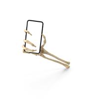 Skeleton Hand Holding a Smartphone Mockup PNG & PSD Images