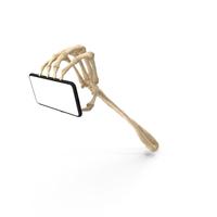 Skeleton Hand Gripping a Smartphone Mockup PNG & PSD Images
