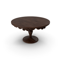 Classic Round Wooden Table PNG & PSD Images