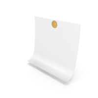 White Sticky Note With Thumbtack PNG & PSD Images