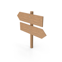Wooden Sign Post Left Right PNG & PSD Images