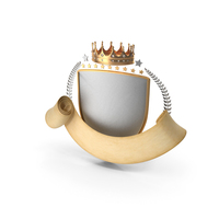 Epic Scroll Title Crown Shield PNG & PSD Images
