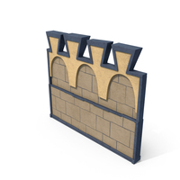 Medieval Castle Wall Segment PNG & PSD Images