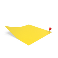 Sticky Note With Sphere Push Pin PNG & PSD Images