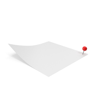 White Sticky Note With Sphere Push Pin PNG & PSD Images
