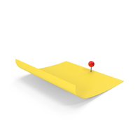 Sticky Notes With Sphere Push Pin PNG & PSD Images