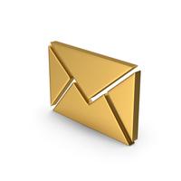 Gold Symbol Message PNG & PSD Images