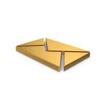 Symbol Message Gold PNG & PSD Images