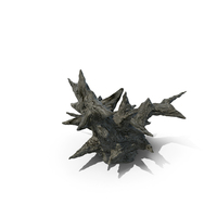 Spiky Alien Rock Daylight PNG & PSD Images