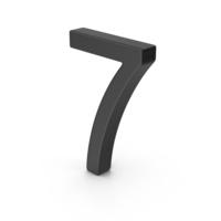 Number 7 Black PNG & PSD Images