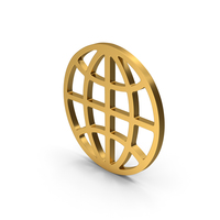 Symbol Web Gold PNG & PSD Images