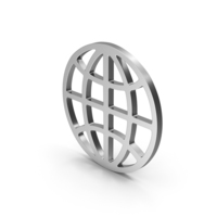 Symbol Web Silver PNG & PSD Images