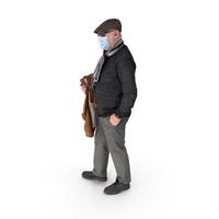 Social Distancing Masked Man PNG & PSD Images