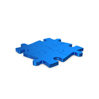 Puzzles Blue Metallic PNG & PSD Images