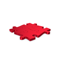 Puzzles Red Metallic PNG & PSD Images