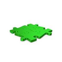Puzzles Green Metallic PNG & PSD Images