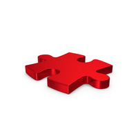 Puzzle Red Metallic PNG & PSD Images