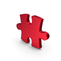 Red Metallic Puzzle PNG & PSD Images