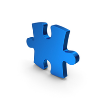 Blue Metallic Puzzle PNG & PSD Images